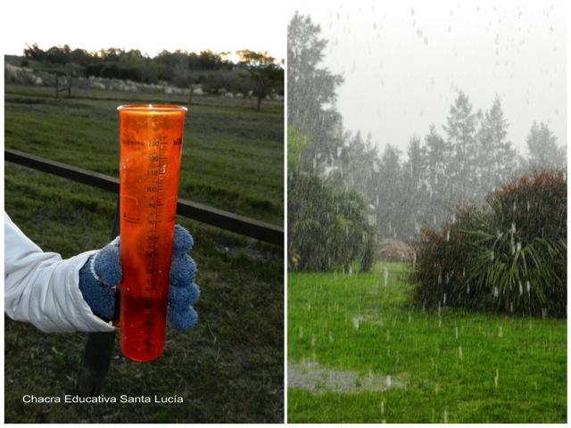 Pluviómetro para medir la cantidad de lluvia - Chacra Educativa Santa Lucía