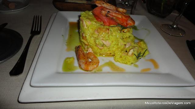 Risoto no Restaurante Panini's - Montevidéu, Uruguai