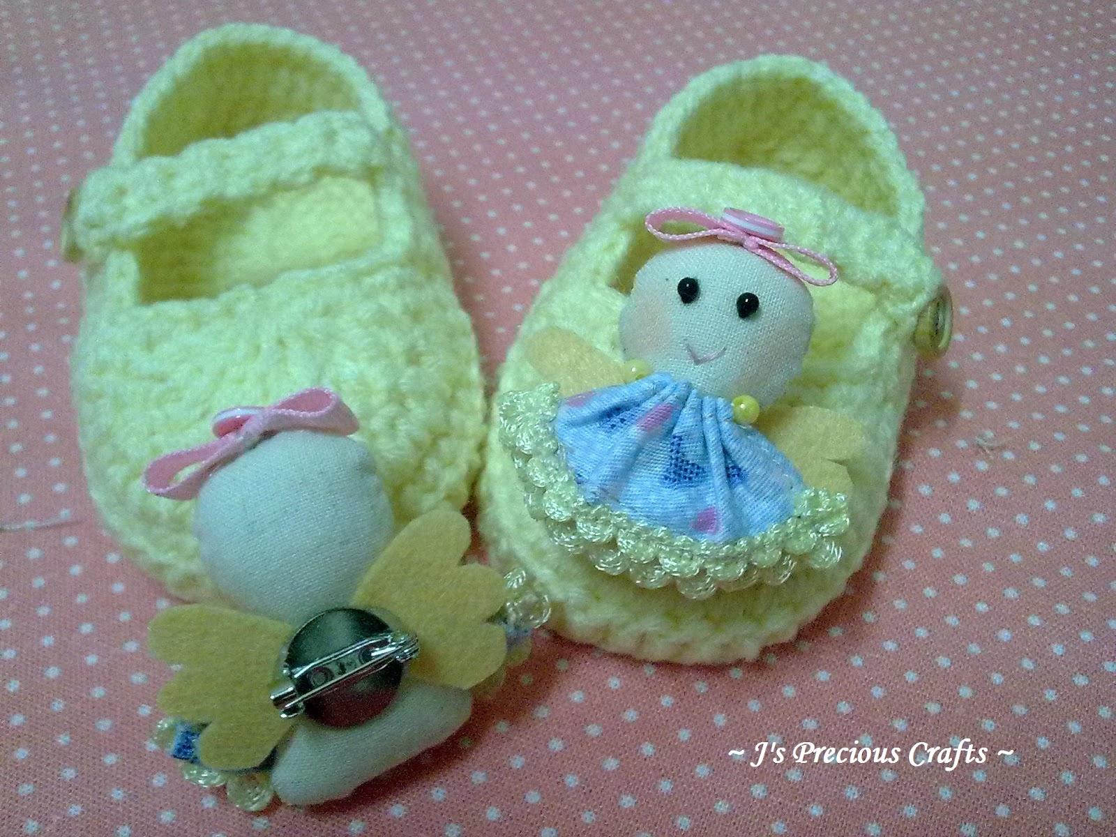 j s precious crafts 小天使婴儿鞋 客订 Little Angel Baby Shoe