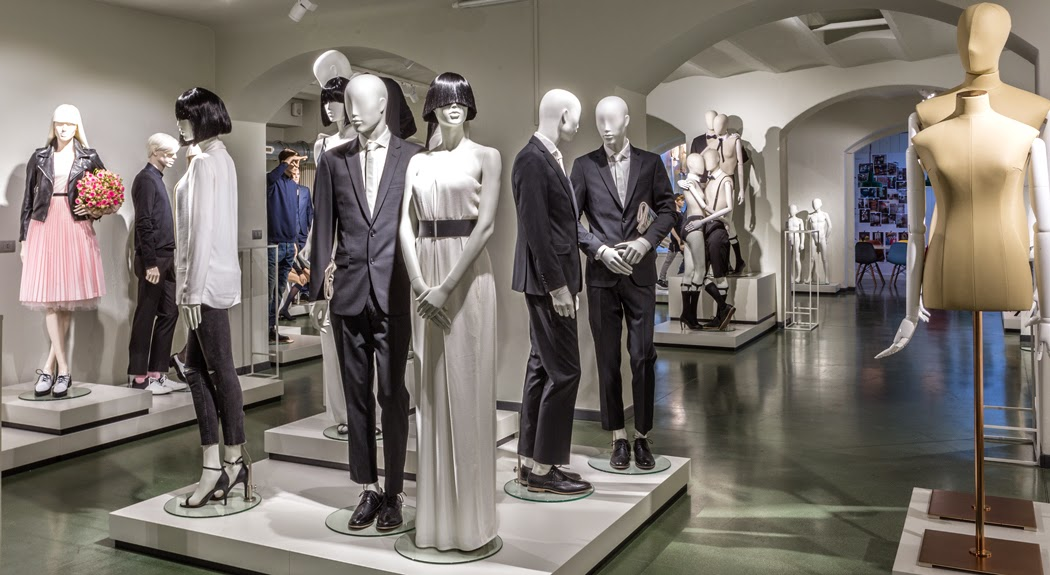 Hans Boodt, maniquíes, Showroom Milan