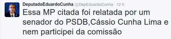 Delação:Eduardo Cunha entrega emenda que beneficiaria amigo do Aécio no colo de senador tucano