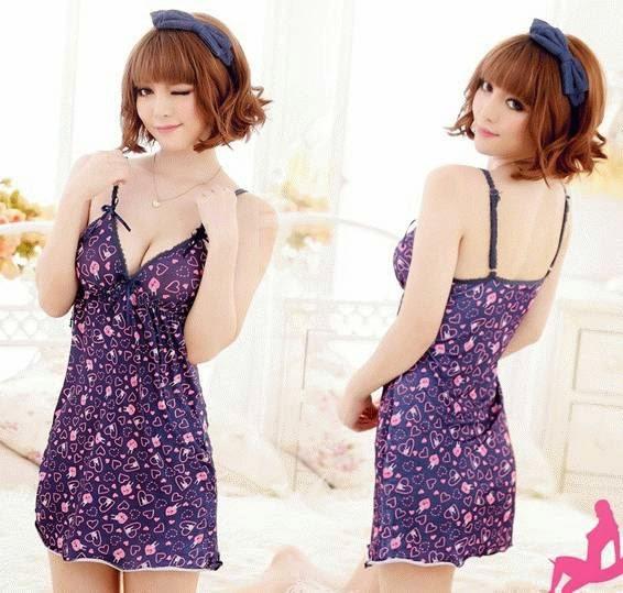 Baju Tidur Cantik FG165 warna purple