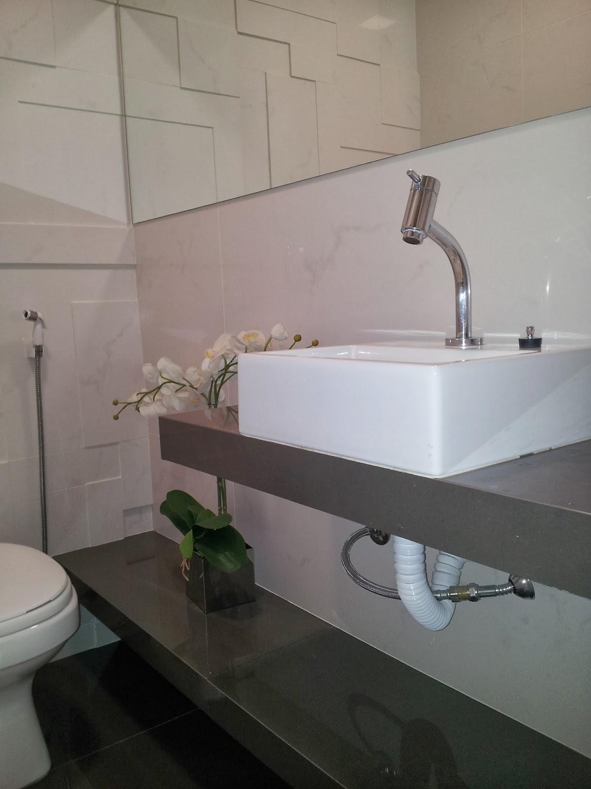Modelo 8 Bancada de porcelanato polido para lavabo. Detalhe no apoio  #596672 1200x1600 Banheiro Com Bancada De Porcelanato
