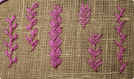 Wild Roses And Blackberries Tast Week 3 Feather Stitch