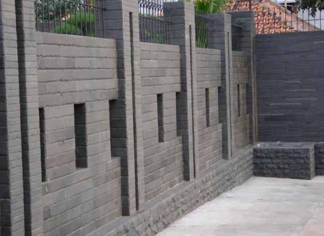 desain pagar tembok depan rumah minimalis