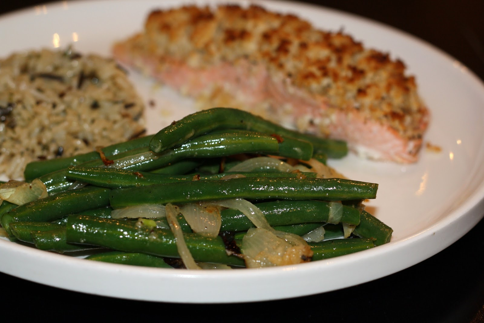 ... for dinner?: honey-mustard salmon with green beans... 25 minutes