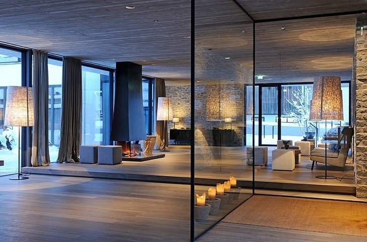 Modern lobby of Boutique Hotel, Austria