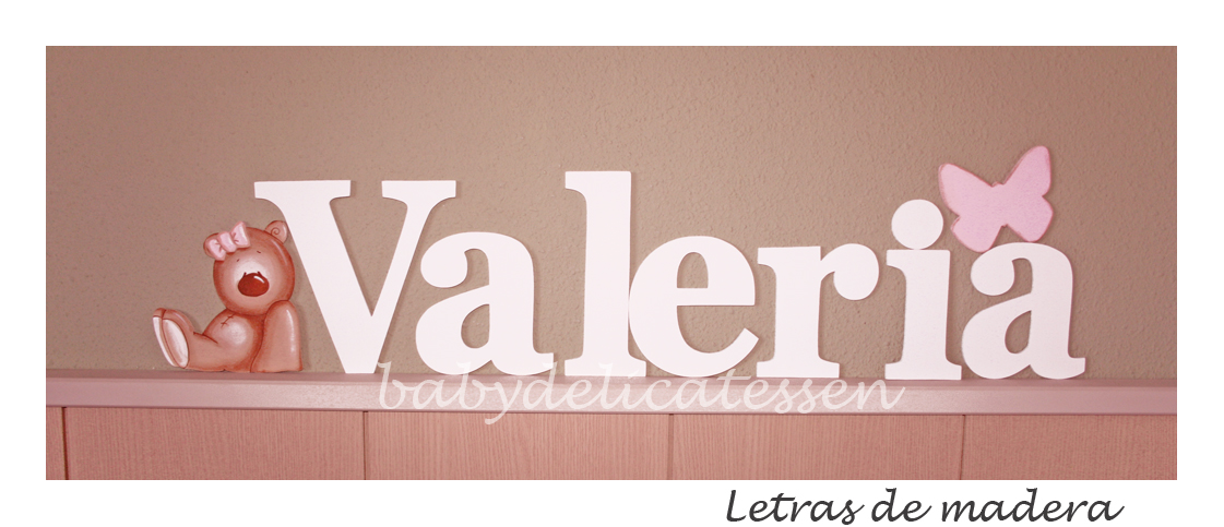 Letras para bebes en madera os gusta a vosotros tambin - Letras de nombres para decorar ...
