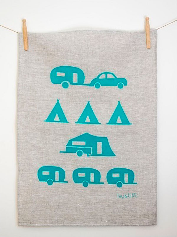 Tea Towel (Happy Camper) by Ivy & Lil