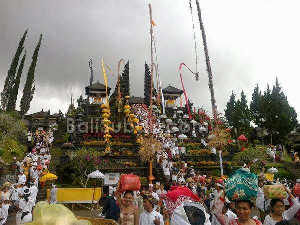 Besakih Temple ritual is always visited by many people