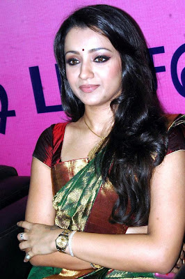 Trisha in a silk saree
