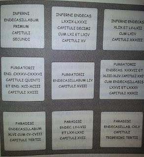 Cabecera de Dante con 9 hojas de pergamino