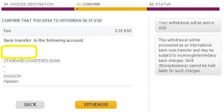 skrill how to add bank account to withdraw money
