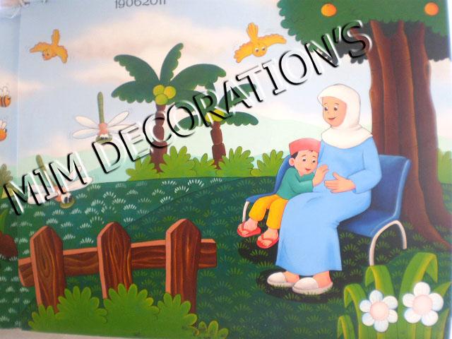 Mim decoration s april 2012 for Mural untuk kanak kanak