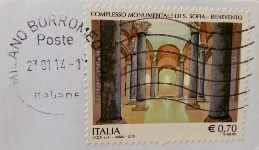 francobollo dedicato al Complesso monumentale S. Sofia (BN)