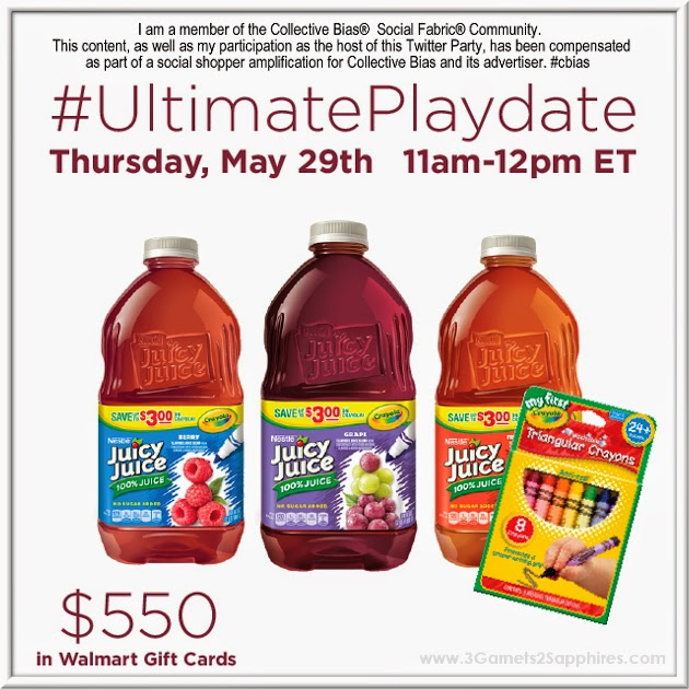 Juicy Juice #UltimatePlaydate Twitter Party - Thursday (5/29) 11am EST #shop #SoFabChats