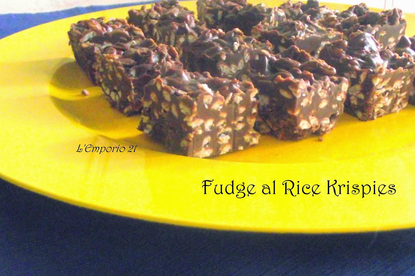 fudge al rice krispies e le paturnie