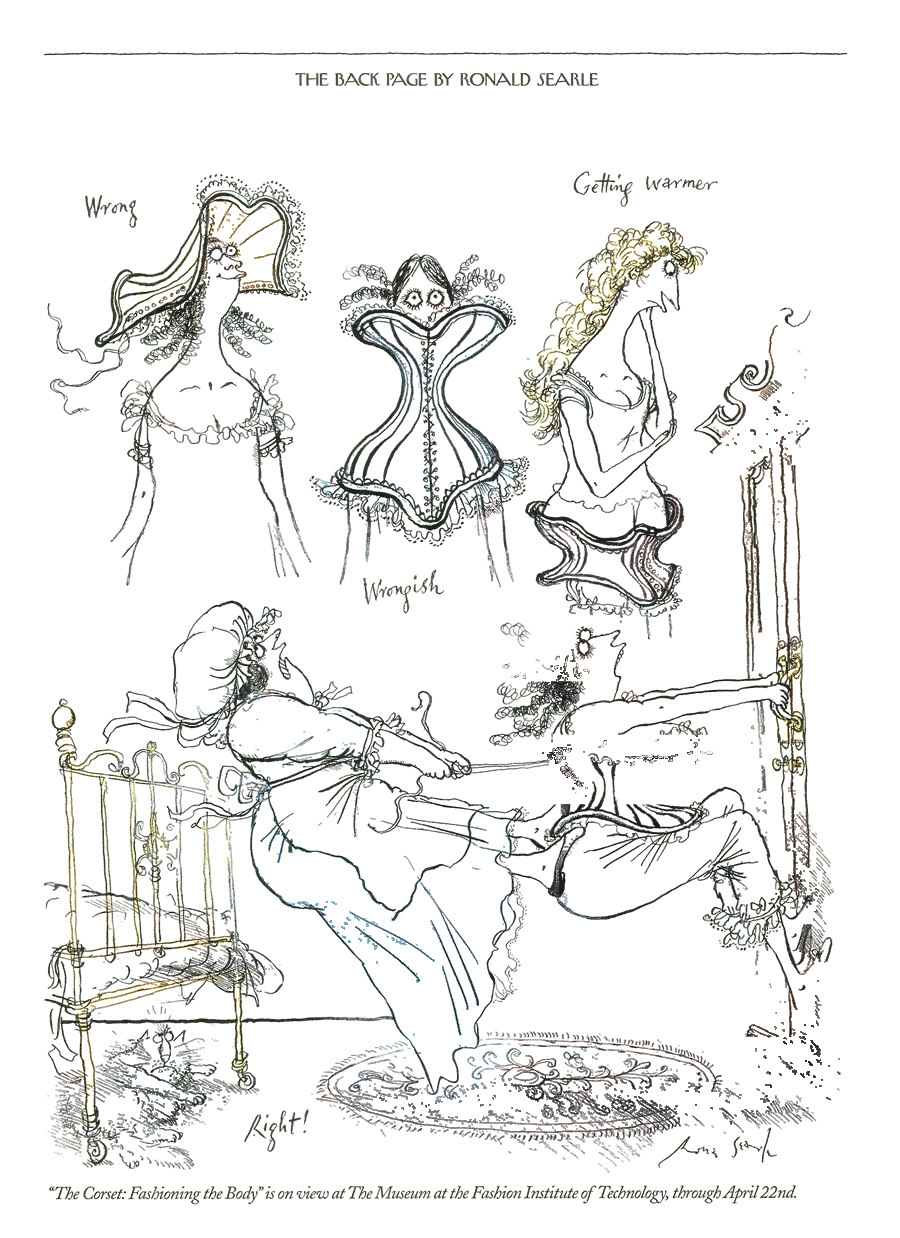 ronald searle tribute  new yorker cartoons