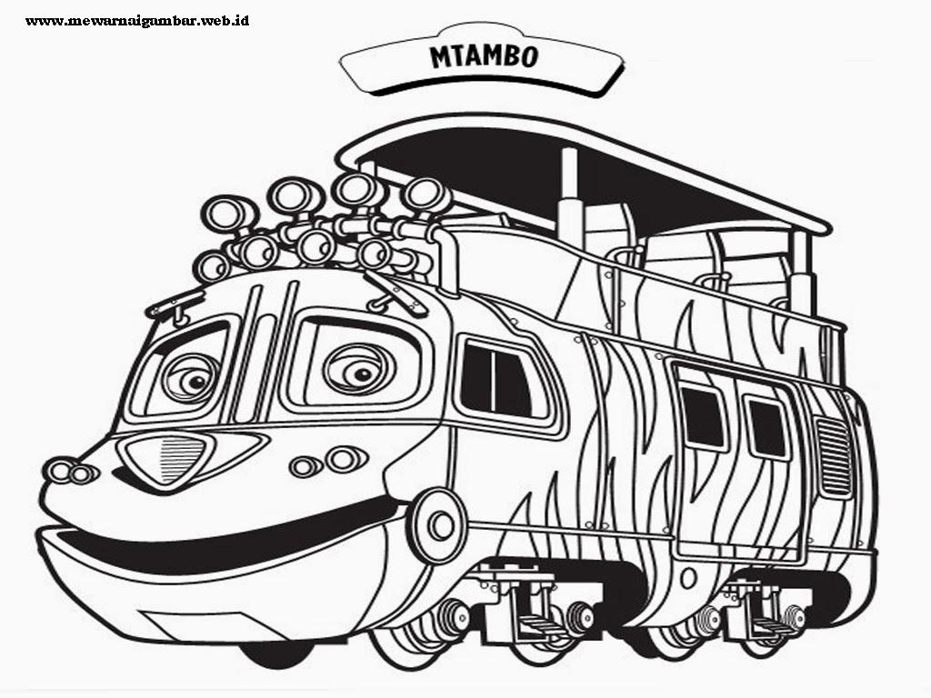 mewarnai gambar kereta chuggington mtambo