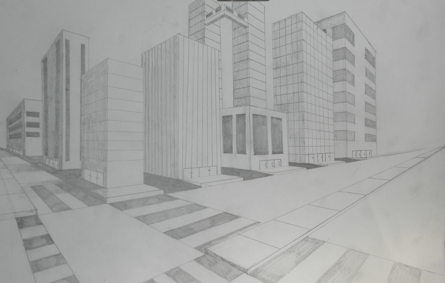 perspective drawings of buildings. Two-Point Perspective Drawings Of Buildings