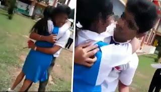 Video Dua Pelajar Sekolah Berciuman