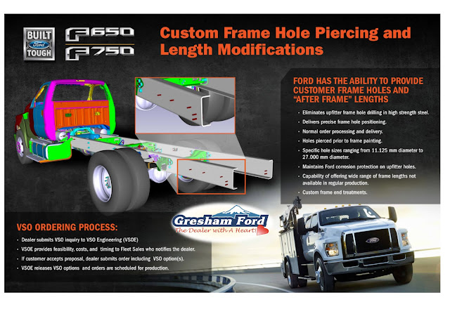 Ford Work Trucks with Custom Frame Hole Piercing & Length Modifications