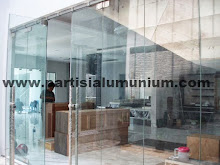 Pintu sliding frameless