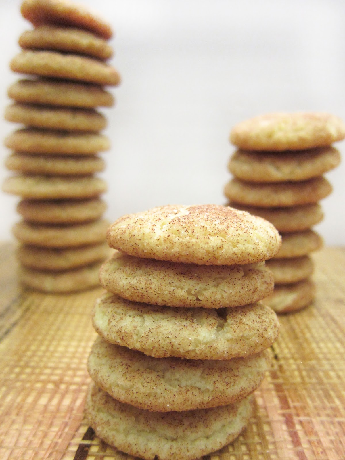 Crispy Snickerdoodle Cookies (recipe adapted from All Recipes ):