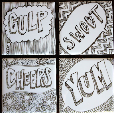 DIY Doodle Coasters Inspired by Pop Art