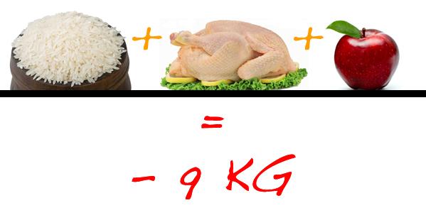 AnatoMia Perfecta: Dieta de Arroz, Pollo y Manzana -9Kg?