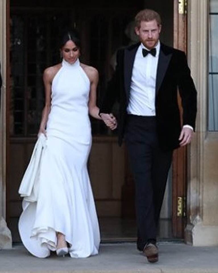 DUKE AND DUCHESS OF SUSSEX: OFF TO THEIR RECEPTION PARTY