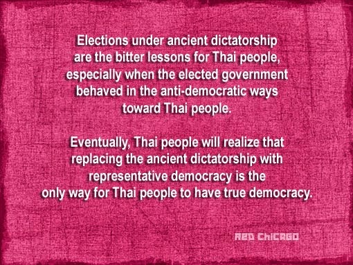 Election under ancient dictatorship are the bitter lessons for Thai people...