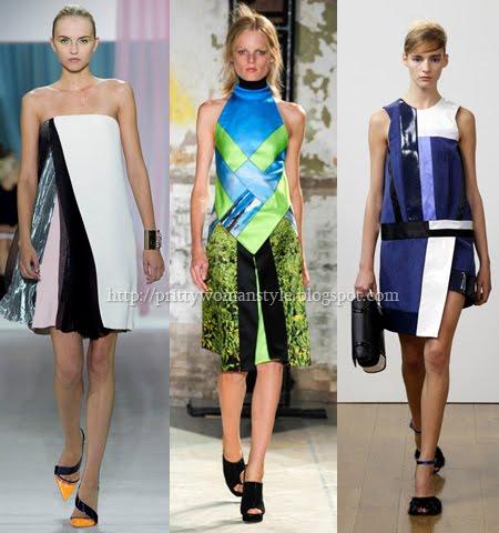 Летни роклички пачуърк пролет-лято 2013