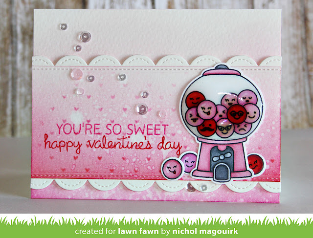 Lawn Fawn Video 11416 A Sweet Smiles Valentine With