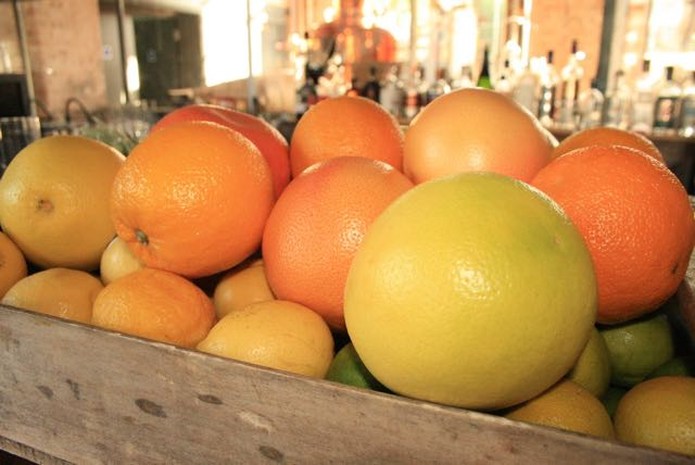 Some of the fruits that go into the making of Gin