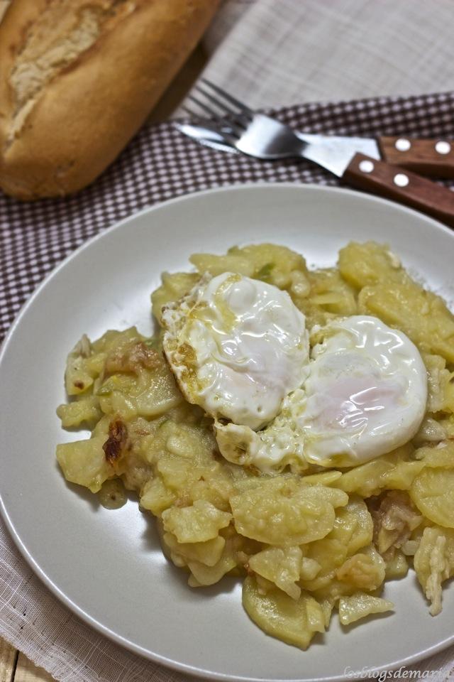 Patatas con huevo de la Abuela Paquita