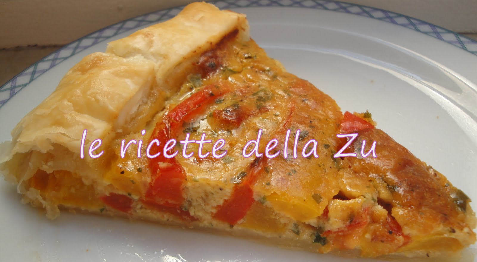 Le ricette della zu torta salata con pasta sfoglia e peperoni for Torte salate con pasta sfoglia