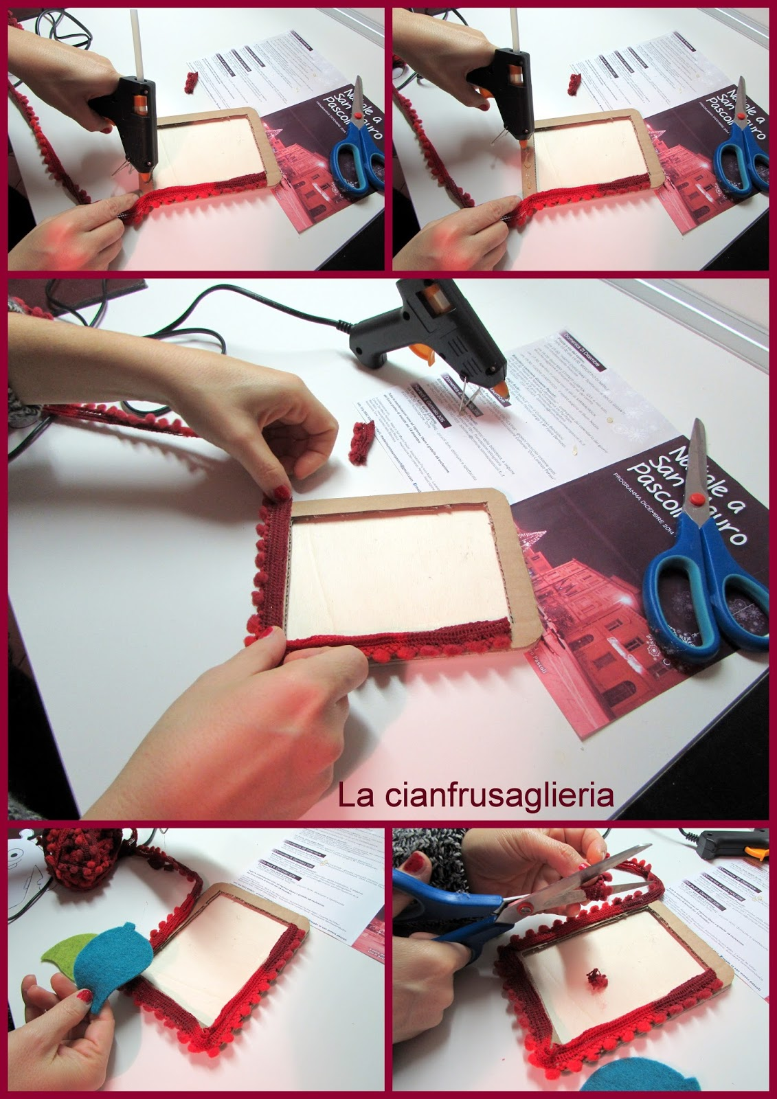 abbastanza La cianfrusaglieria: DIY Christmas framework: cornice di Natale  XF37