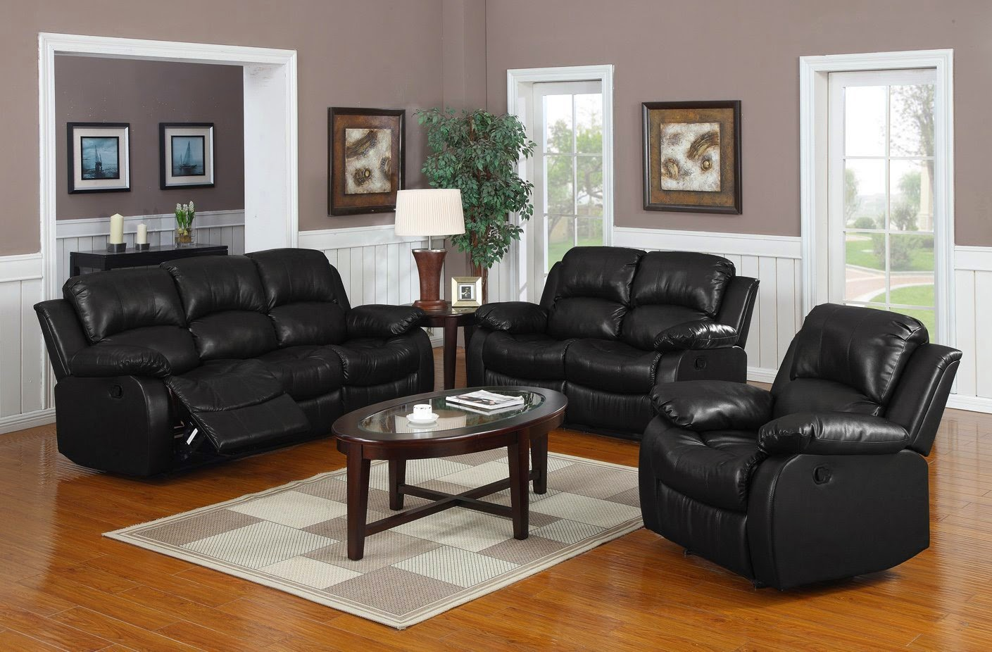black leather recliner sofas homelegance cheap black leather recliner