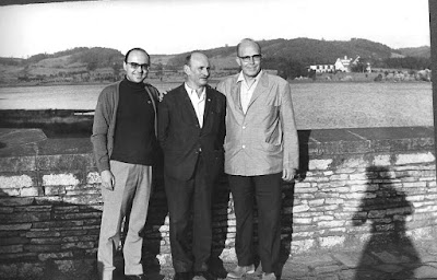 Los ajedrecistas Màxim Borrell , NN y Àngel Ribera
