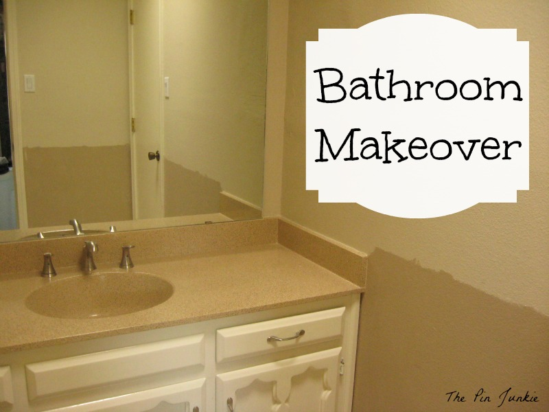 Bathroom Make Over the pin junkie: bathroom makeover