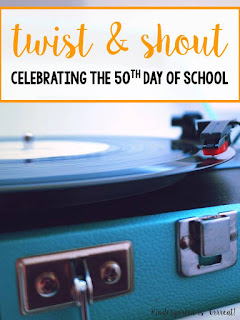 The 50th day of Kindergarten is a big deal!  The 50th day of school, regardless of the grade, is a big deal! We dress up, we have a sock hop, we drink root beer floats, and we have a few fun contests! Ya'll will have to check out my favorite contest here!