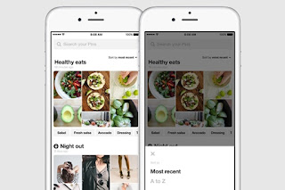 pinterest mobile user profile