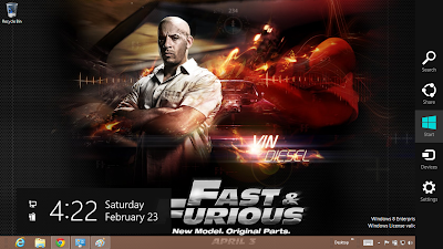 Fast And Furious 6 Desktop Theme
