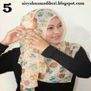 Cara Memakai Jilbab Kreasi Jilbab Sifon Shwal