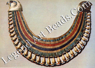 Gold, stone and faience Falcon Collar of Seneb-tisi, from Lisht