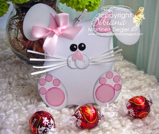 bunny easter candy holder bags