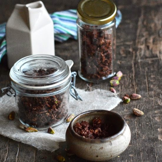 One Small Pot | Chocolate, Cranberry, and Pistachio Granola