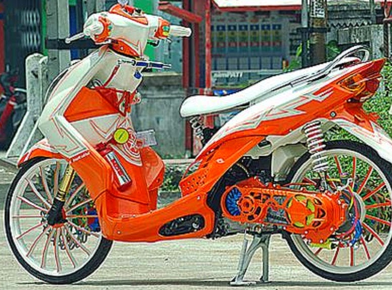 cara membuat motor tampil berbeda
