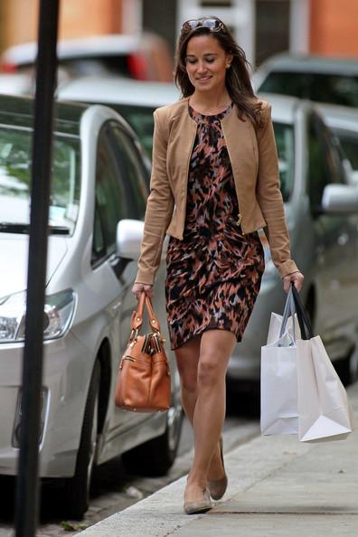 Pippa Middleton ya viste tonos otoñales